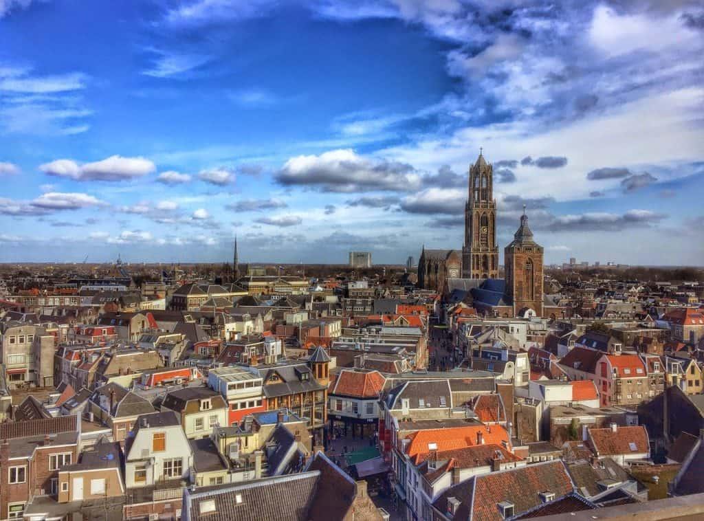 Beeld van Utrecht met domtoren